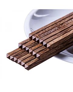 【包邮】双枪(SunCha)中华鸡翅木家用筷子10双装 25CM